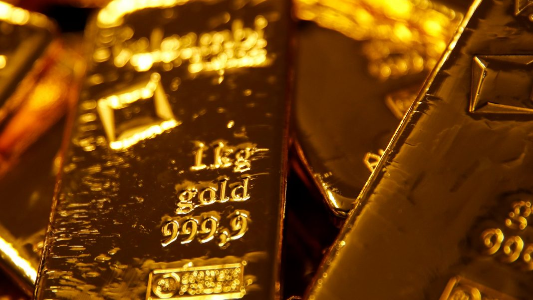 Gold prices: upside still capped by the 100-DMA