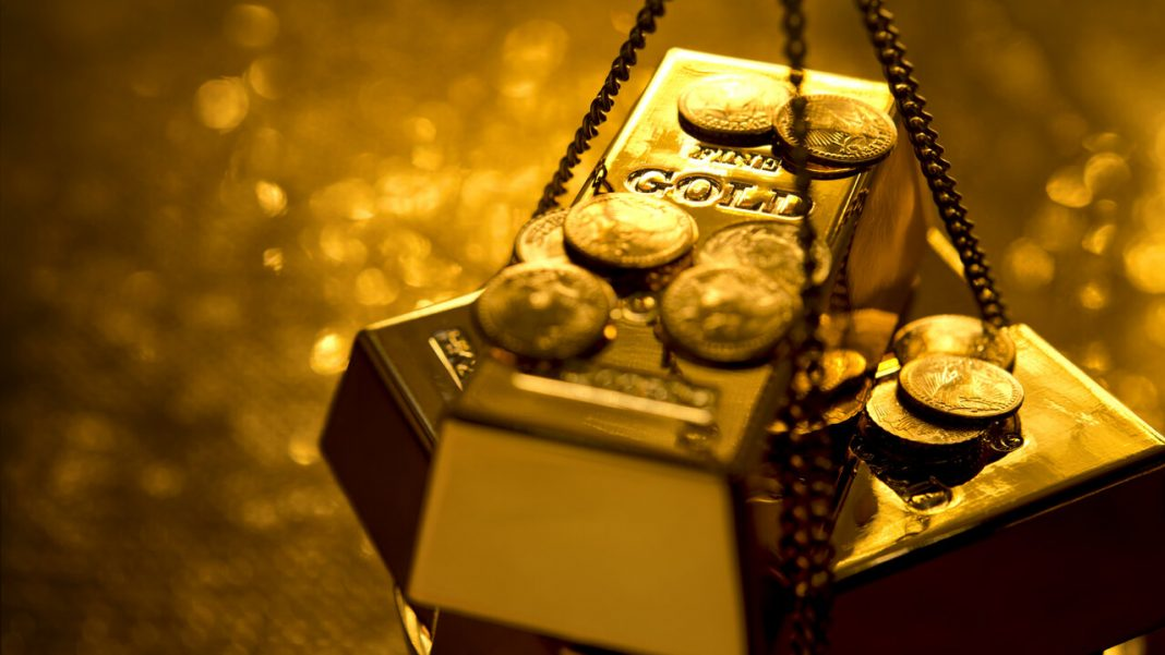 Gold retreats from seven-year highs
