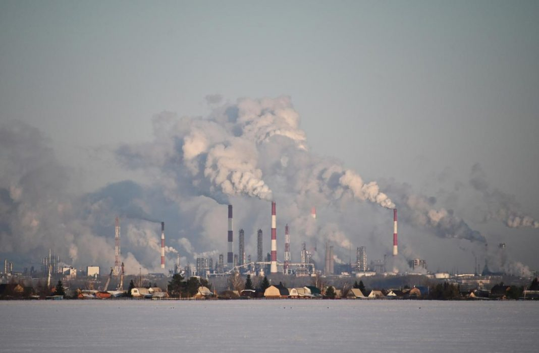 A view shows the Gazprom Neft's oil refinery in Omsk, Russia February 10, 2020.