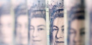 Sterling enjoyed some respite on Tuesday after British economic growth showed no change in the fourth quarter despite market expectations that it would be slower