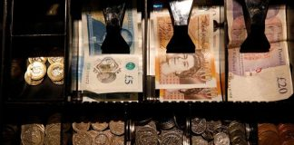 Sterling slipped back under $1.30 to hit its lowest level in over a week on Wednesday, shrugging off data showing an unexpected surge in UK inflation to a six-month high in January as focus returned to Britain's trade talks with the European Union and government plans to boost spending