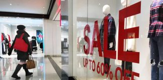 Sales at clothing stores declined by the most since 2009 in January