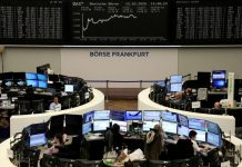 A sharp rise in the number of coronavirus deaths and infections unnerved world markets on Thursday, as traders halted the rally in stocks and retreated to the safety of government bonds and gold