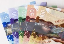 All Canadian Dollars contiguosly 5 to 100