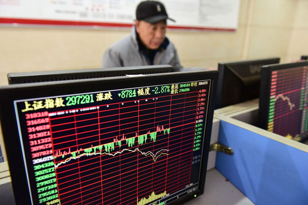 Markets losing ground amid the reports about a rising number of infections both in China and outside