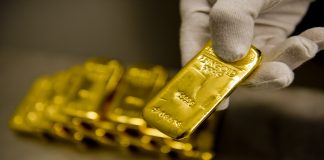 Muenchen, Germany - February 16: Gold bars in the safe of Pro Aurum Gold trading house on February 16, 2016 in Muenchen, Germany. (Photo by Michael Gottschalk/Photothek via Getty Images)
