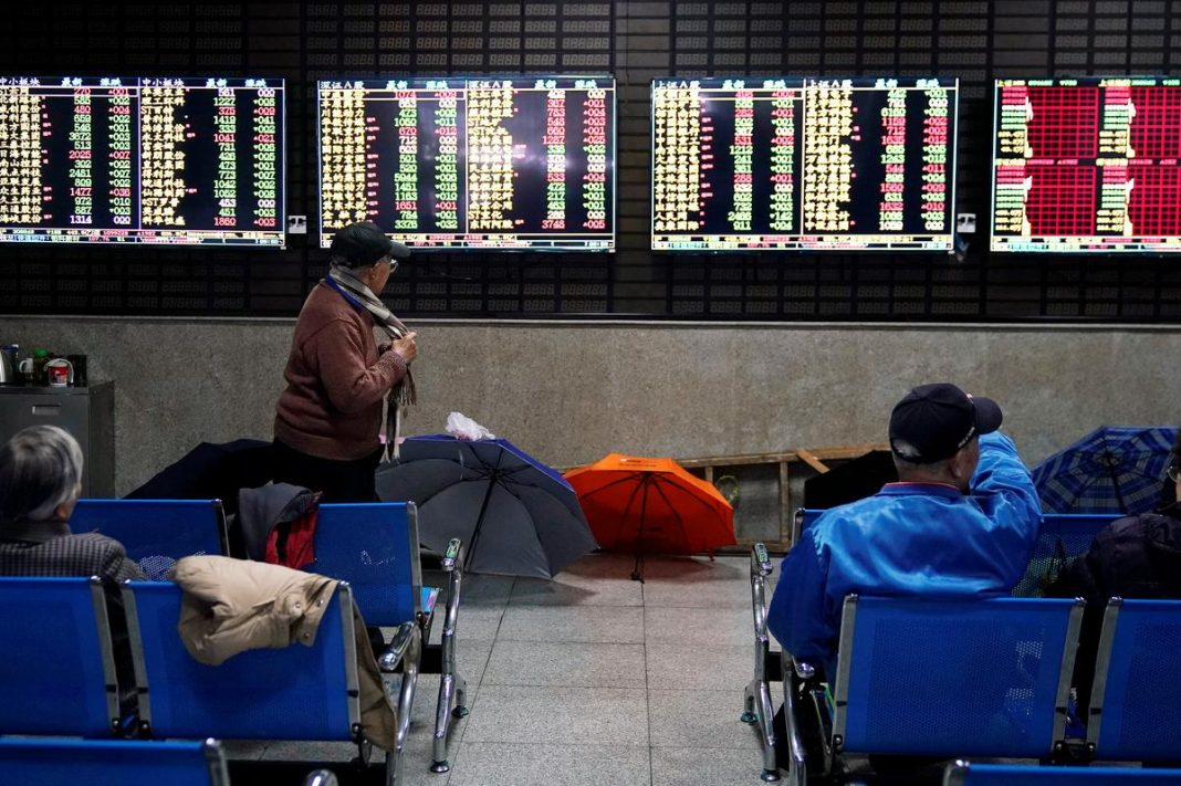 Asian shares were under water on Friday as fears over the creeping spread of the coronavirus sent funds fleeing to the sheltered shores of U.S. assets, lifting the dollar to three-year highs