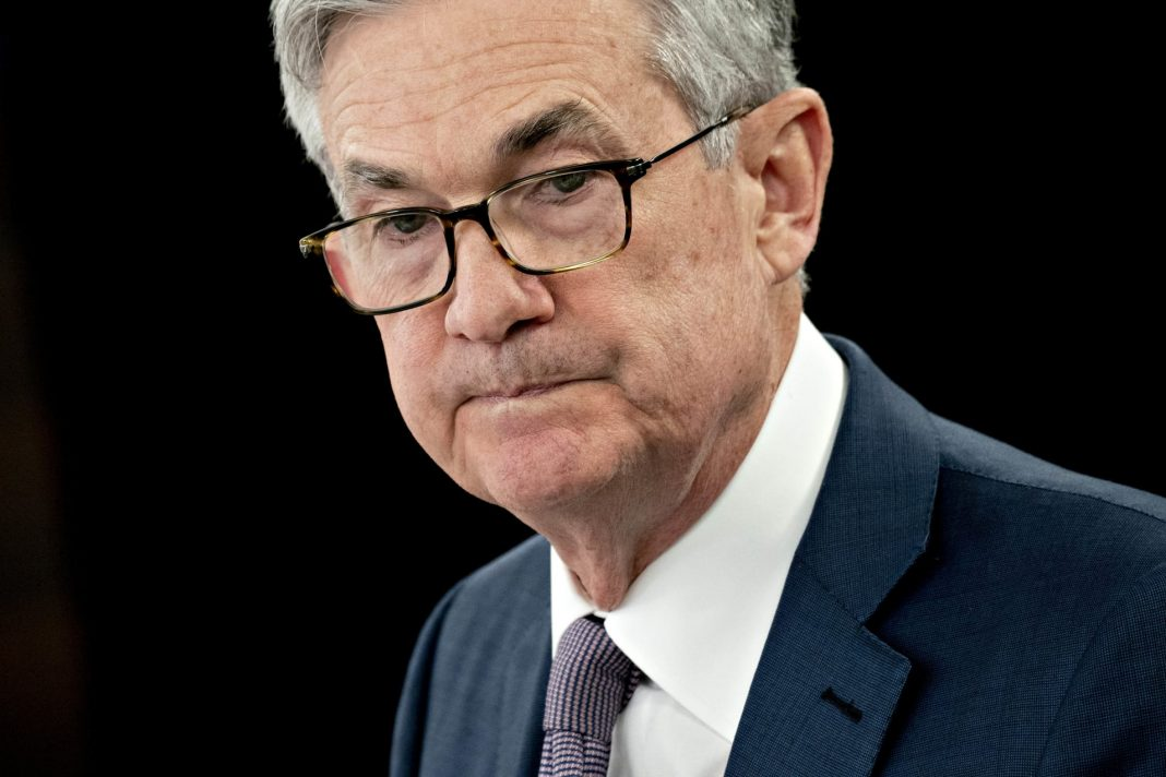 Jerome Powell, chairman of the U.S. Federal Reserve, pauses while speaking during a news conference in Washington, D.C.