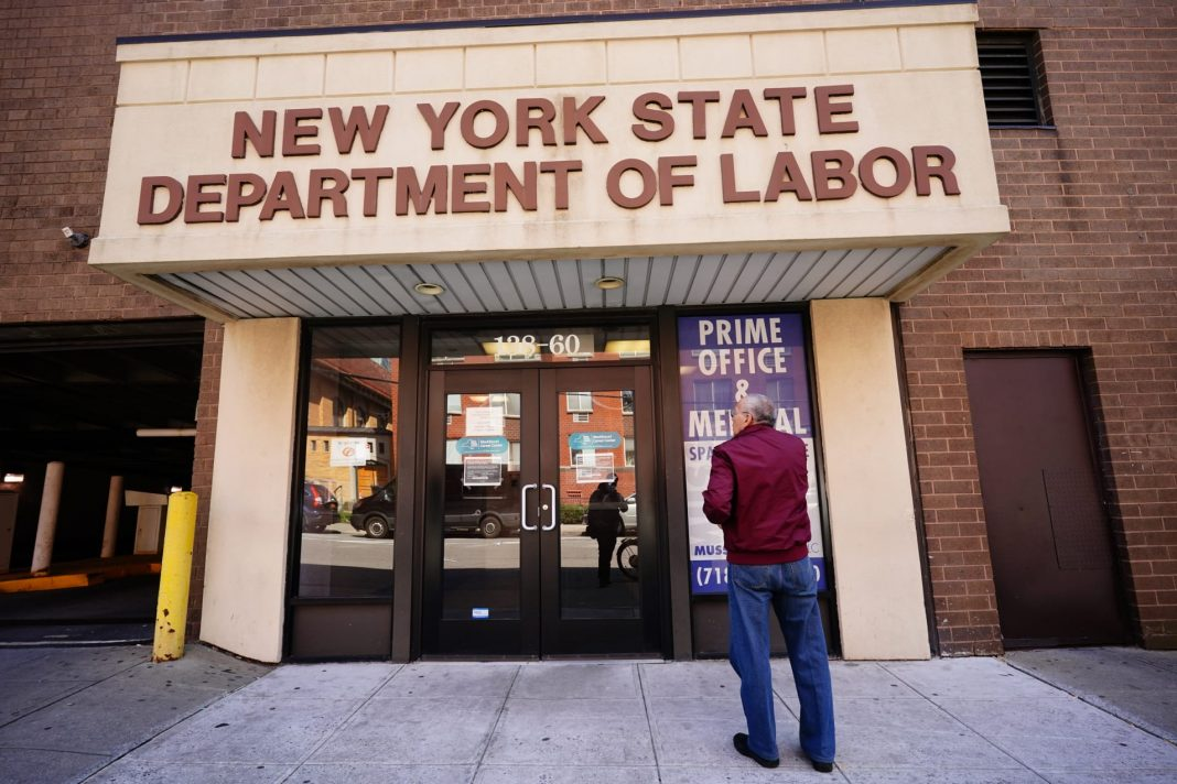 A view of Department of Labor in Flushing, Queens amid the coronavirus (COVID-19) outbreak on March 26, 2020 in New York City