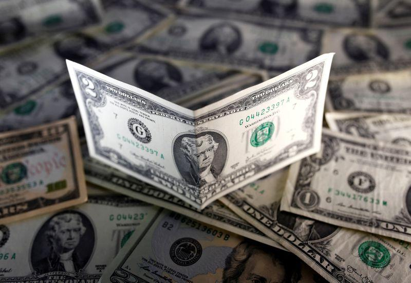 U.S. dollar notes are seen in this November 7, 2016 picture illustration.