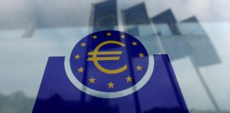 The European Central Bank (ECB) logo is pictured before a news conference on the outcome of the meeting of the Governing Council in Frankfurt, Germany, January 23, 2020.
