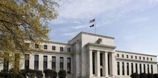 """The U.S. Federal Reserve Bank Building, home to the Board of Governors of the Federal Reserve System, is seen in Washington, Friday, April 25, 2014. Often referred to as """"the Fed,"""" it is the nation's central banking system and sets monetary policy for the United States. (AP Photo/J. Scott Applewhite)"""