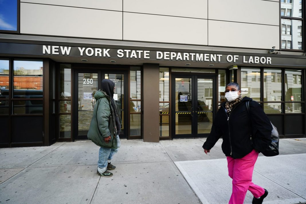 New York state Department of Labor office in Brooklyn, New York