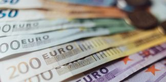 The euro declined to nearly one-week lows marginally above 1.09