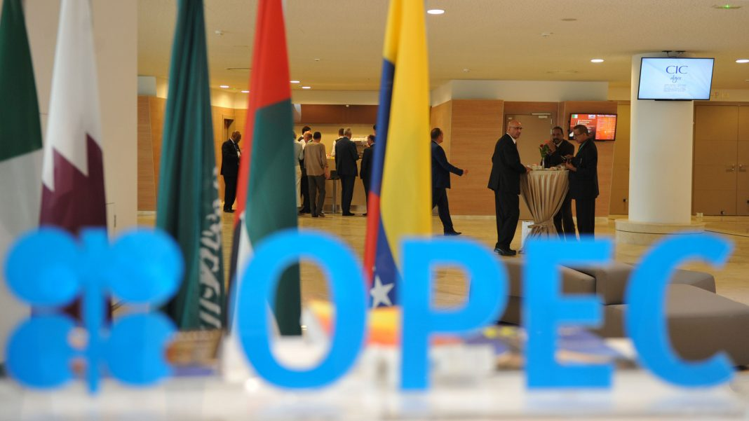 Participants attend the opening session of the 15th International Energy Forum in Algiers on September 27, 2016. Oil prices rose modestly ahead of a meeting of producers from the Organization of the Petroleum Exporting Countries (OPEC) cartel and Russia in Algeria on September 28 that could agree to cap supplies. / AFP / Ryad Kramdi (Photo credit should read RYAD KRAMDI/AFP/Getty Images)