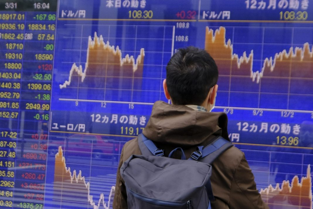 Japanese shares rose on Monday, boosted by a slowdown in COVID-19 deaths and new cases in global hotspots including New York and Italy, as uncertainty over a potential lockdown in Tokyo kept some investors on the sidelines.