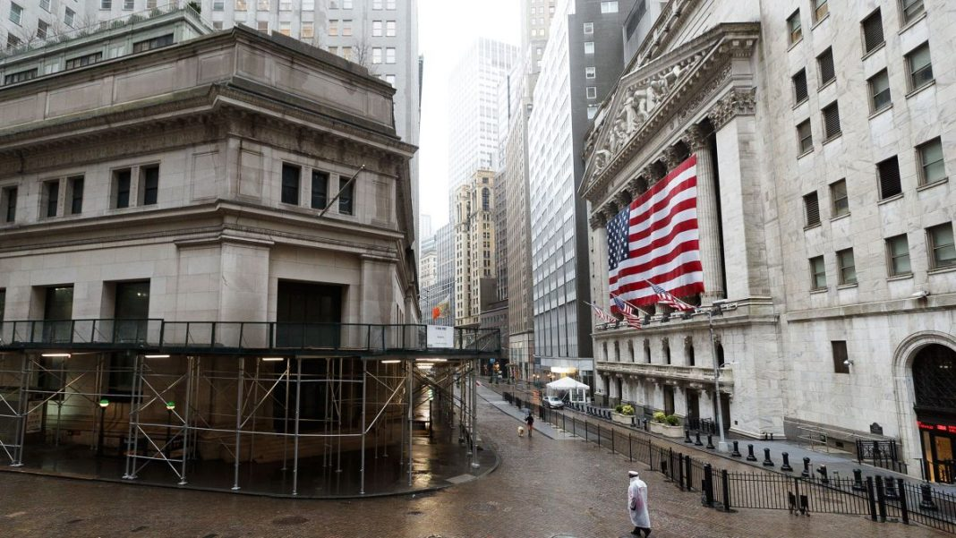 U.S. stocks were set to fall on Monday as energy shares took a hit from sliding oil prices, while investors braced for a week packed with earnings reports and economic data that could provide more evidence of the damage wrought by the coronavirus.