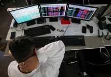 Global shares fell on Friday, hit by delays to an agreement on divisive details of the European Union's stimulus package and doubts about progress in the development of drugs to treat COVID-19.