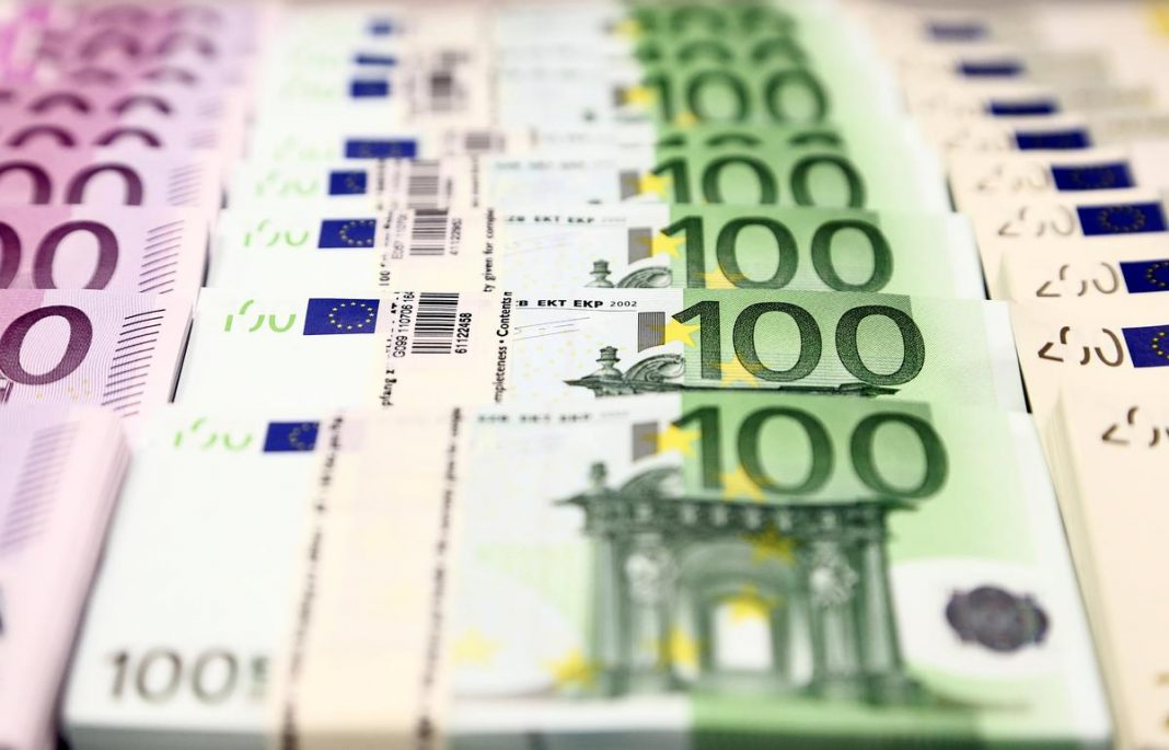 Euro currency bills are pictured at the Croatian National Bank in Zagreb, Croatia