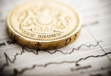 Sterling edged lower on Thursday against both the U.S. dollar and the euro as a combination of business activity data and the risk of sub-zero interest rates weighed on the pound.