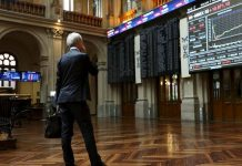 European shares bounced on Monday after their worst week in two months, as investors hoped for a gradual economic recovery with many countries easing coronavirus-led lockdowns.