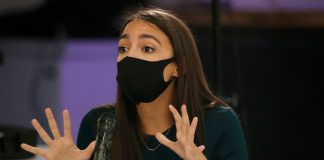ep. Alexandria Ocasio-Cortez at the Democratic primary debate in the Bronx.