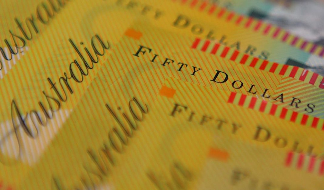 Australian dollars are seen in an illustration photo
