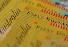 Australian dollars are seen in an illustration photo
