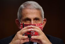 Dr Anthony Fauci, director of the National Institute for Allergy and Infectious Diseases prepares to testify ahead of a Senate Health, Education, Labor and Pensions (HELP) Committee hearing on Capitol Hill in Washington, U.S., June